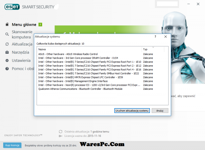 ESET Smart Security Activation Key